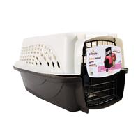 Doskocil - 2 Door Top Load Kennel - White/Coffee - 19 Inch