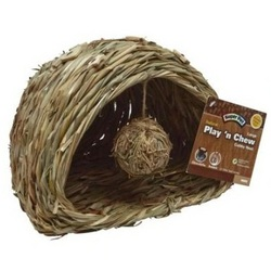 Super Pet - Natural Play-N-Chew Cubby Nest - Large