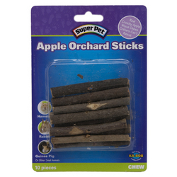 Super Pet - Small Animal Apple Orchard Sticks - 10 Pack
