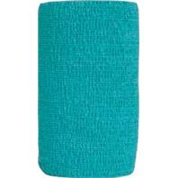Andover Healthcare - Coflex-Vet Cohesive Bandage - Teal - 4 Inch X 5 Yard