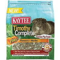 Kaytee Products - Timothy Complete + Flowers & Herbs Guinea Pig Food - 5 Lb