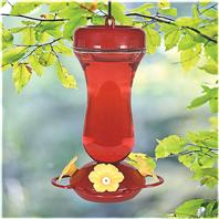 Woodstream Hummingbird - Perky-Pet Glass Top Fill Hummingbird Feeder - Red - 16 oz
