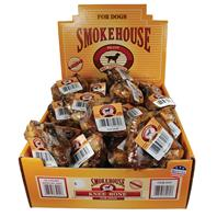 Smokehouse Dog Treats - Usa Made Knee Bone - 25 Piece - Display