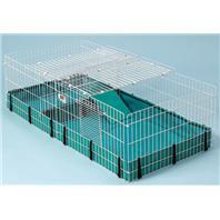 Midwest Container - Guinea Habitat Plus - White - 47 x24 x 14 Inch