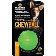 StarMark - Treat Dispensing Chew Ball - Green - Medium