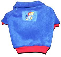 DoggieNation-College - Kansas Jayhawks Dog Fleece Pullover - Large