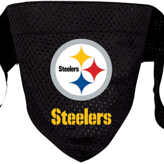 DoggieNation-NFL - Pittsburgh Steelers Dog Bandana - Large