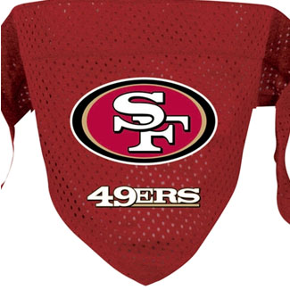 DoggieNation-NFL - San Francisco 49ers Dog Bandana - Small
