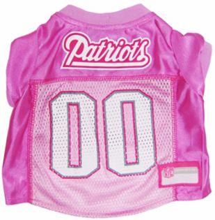 DoggieNation-NFL - New England Patriots Dog Jersey - Pink  - Medium