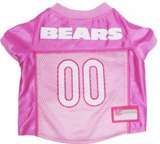 DoggieNation-NFL - Chicago Bears Dog Jersey - Pink - Large