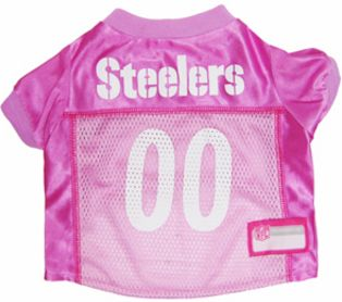 DoggieNation-NFL - Pittsburgh Steelers Dog Jersey - Pink  - Small