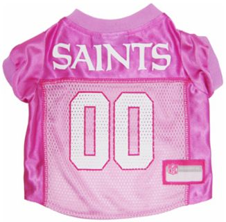 DoggieNation-NFL - New Orleans Saints Dog Jersey - Pink - Small