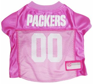 DoggieNation-NFL - Green Bay Packers Dog Jersey - Pink - Large