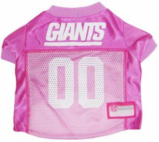 DoggieNation-NFL - New York Giants Dog Jersey - Pink - Small