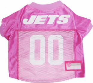 DoggieNation-NFL - New York Jets Dog Jersey - Pink - Small