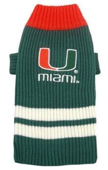 DoggieNation-College - Miami Hurricanes Dog Sweater - Small