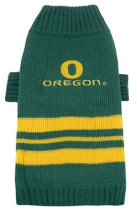 DoggieNation-College - Oregon Ducks Dog Sweater - Medium
