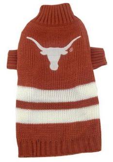 DoggieNation-College - Texas Longhorns Dog Sweater - Large