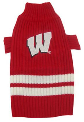 DoggieNation-College - Wisconsin Badgers Dog Sweater - Xtra Small
