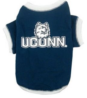 DoggieNation-College - Connecticut Dog Tee Shirt - Large