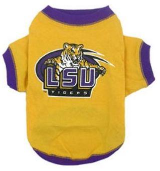 DoggieNation-College - LSU Tigers Dog Tee Shirt - Medium