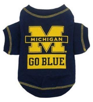 DoggieNation-College - Michigan Wolverines Dog Tee Shirt - Small
