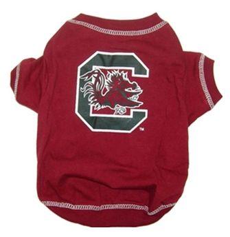 DoggieNation-College - South Carolina Gamecocks Dog Tee Shirt - Large