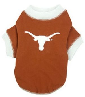 DoggieNation-College - Texas Longhorns Dog Tee Shirt - Large