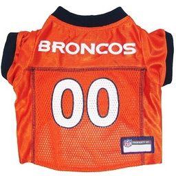 DoggieNation-NFL - Denver Broncos Dog Jersey - Alternate Style - XtraSmall