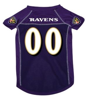 DoggieNation-NFL - Baltimore Ravens Dog Jersey - 3 Per Size - Small