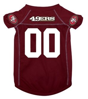 DoggieNation-NFL - San Francisco 49ers Dog Jersey - Small