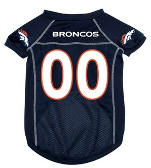 DoggieNation-NFL - Denver Broncos Dog Jersey - Small