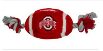 DoggieNation-College - Ohio State Plush Football Dog Toy - One