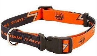 DoggieNation-College  - Oklahoma State Dog Collar - Medium