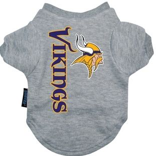 DoggieNation-NFL - Minnesota Vikings Dog Tee Shirt - Large