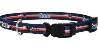 DoggieNation-NFL - New England Patriots Dog Collar - Small