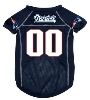 DoggieNation-NFL  - New England Patriots Dog Jersey - Large