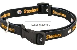 DoggieNation-NFL - Pittsburgh Steelers Dog Collar - Large