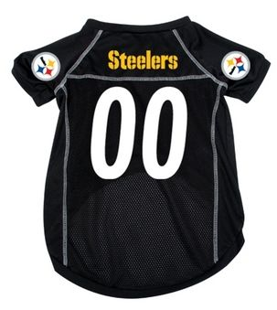 DoggieNation-NFL  - Pittsburgh Steelers Dog Jersey - Small