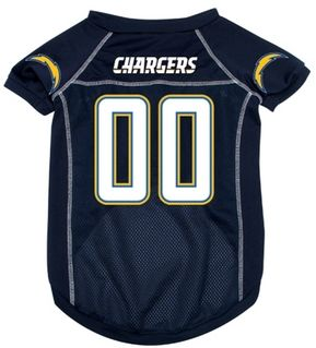 DoggieNation-NFL  - San Diego Chargers Dog Jersey - Small