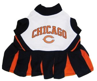 DoggieNation-NFL - Chicago Bears Cheerleader Dog Dress - Small
