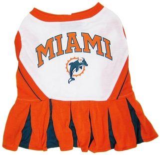 DoggieNation-NFL - Miami Dolphins Cheerleader Dog Dress - Small