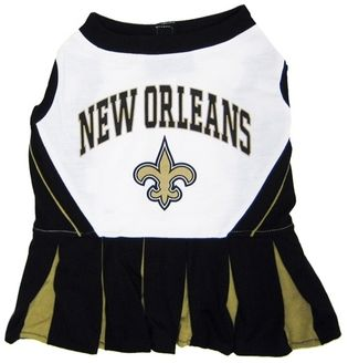 DoggieNation-NFL - New Orleans Saints Cheerleader Dog Dress - Medium