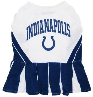 DoggieNation-NFL - Indianapolis Colts Cheerleader Dog Dress - Small