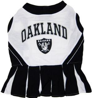 DoggieNation-NFL - Oakland Raiders Cheerleader Dog Dress - Small