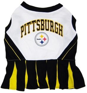 DoggieNation-NFL - Pittsburgh Steelers Cheerleader Dog Dress - XtraSmall