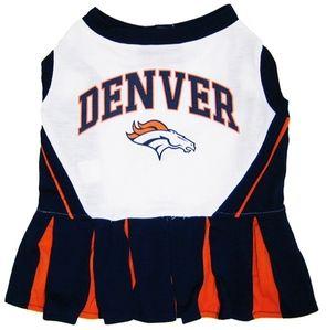 DoggieNation-NFL - Denver Broncos Cheerleader Dog Dress - Medium