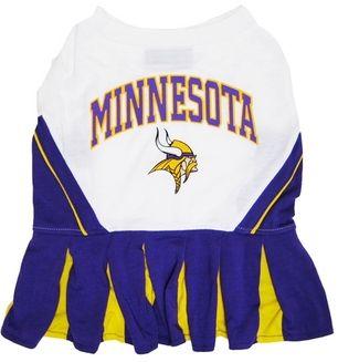 DoggieNation-NFL - Minnesota Vikings Cheerleader Dog Dress - Small