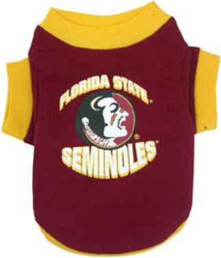 DoggieNation-College - Florida State Dog Tee Shirt - XtraSmall