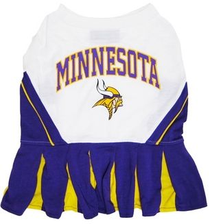 DoggieNation-NFL - Minnesota Vikings Cheerleader Dog Dress - Medium